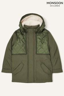 Monsoon Hooded Parka Coat