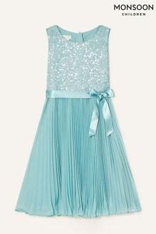 Monsoon Keita Sequin Pleat Dress