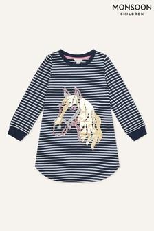 Monsoon Horse Foil Sweatshirt Stripe Tunic