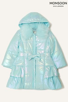 Monsoon Holographic Frill Hooded Coat