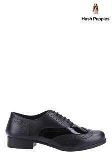Hush Puppies Black Kada Junior School Shoes