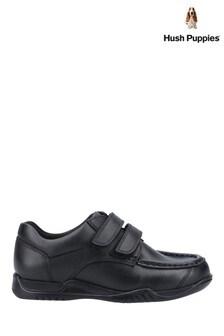 Hush Puppies Black Hayden Senior School Shoes