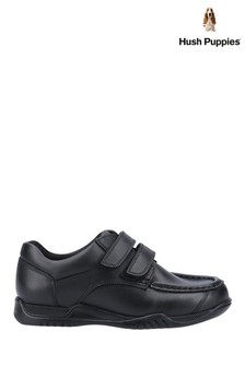 Hush Puppies Black Hudson Senior School Shoes