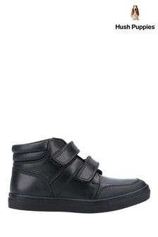 Hush Puppies Black Seth Junior School Shoes