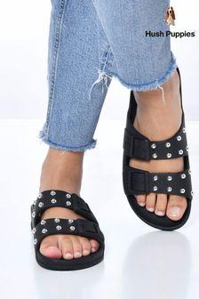 Hush Puppies Black Faye Junior School Shoes