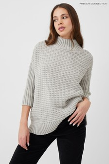 French Connection Grey Mozart Popcorn Jumper