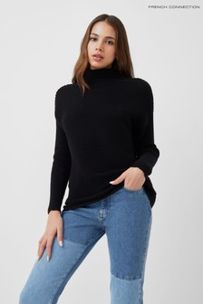 French Connection Black Sunday Mozart High Neck Jumper