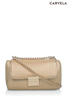 Carvela Gold Bailey Soft Quilted Shoulder Bag