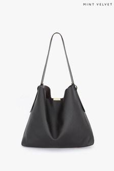 Mint Velvet Mandy Black Shoulder Bag