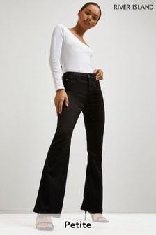 River Island Petite Black Amelie Flare Jeans