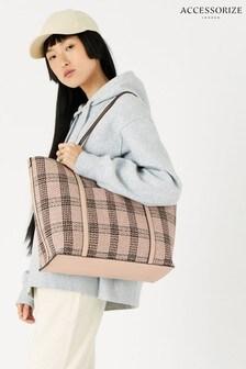 Accessorize Multi Chelsea Check Tote Bag