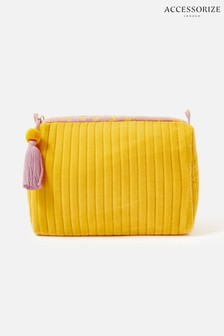 Accessorize Yellow Large Make-Up Bag