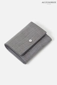 Accessorize Grey Stella Croc Purse