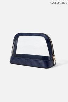 Accessorize Blue Large Clear Make-Up Bag