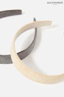 Accessorize Grey Cord Headbands 2 Pack