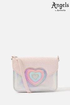 Angels by Accessorize Multi Rainbow Heart Cross-Body Bag