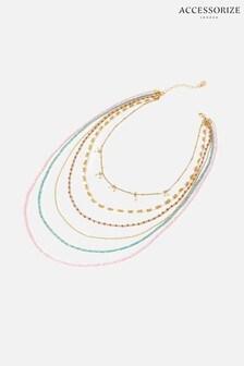 Accessorize Multi Feel Good Seedbead Layered Necklace