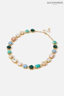 Accessorize Multi Feel Good Gem Collar Necklace