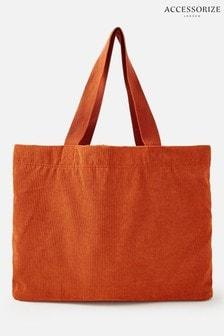 Accessorize Orange Cord Shopper Bag