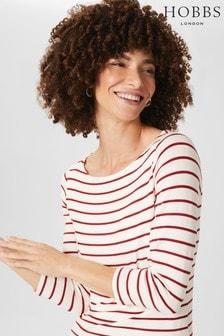Hobbs White Striped Sonya Top