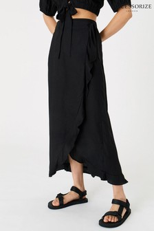 Accessorize Black Wrap Co-ord Skirt