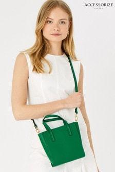 Accessorize Green Mini Handheld Cross-Body Bag