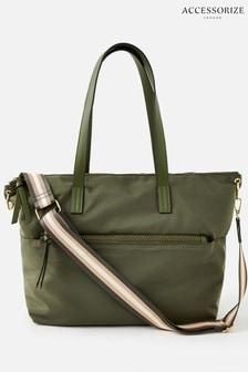 Accessorize Green Nadine Nylon Tote Bag