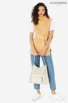 Accessorize Cream Luna Slouch Shoulder Bag