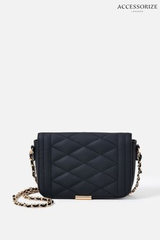 Accessorize Black Chrissy Quilted Chain Cross-Body Bag