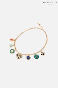 Accessorize Multi Reconnected Enamel Charmy Necklace