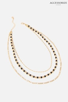 Accessorize Blue Reconnected Chain Bead Necklace