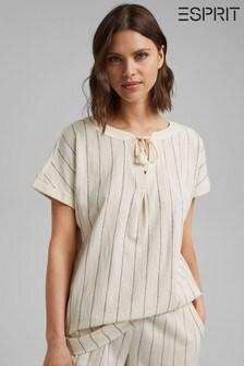 Esprit White Striped Shirt