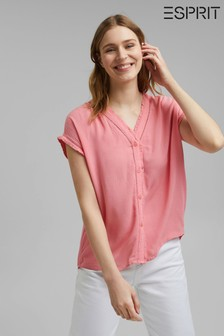 Esprit Red Broderie Blouse
