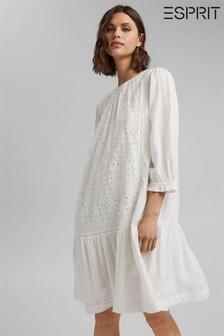 Esprit Woven White Dress
