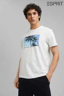 Esprit White Printed T-Shirt