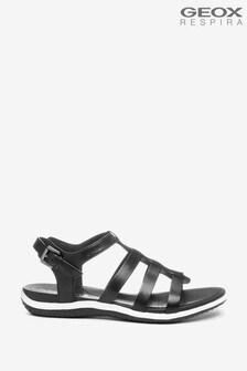 Geox Womans Vega Black Sandals