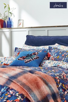 Joules Blue Woodland Butterfly Cushion