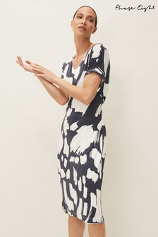 Phase Eight Grey Dotterel Abstract Print Dress