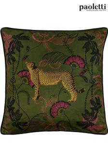Riva Paoletti Khaki Tropica Cheetah Cushion