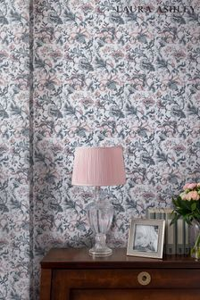 Laura Ashley Grey Portia Wallpaper