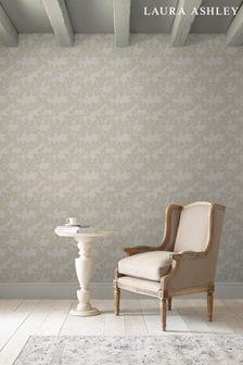 Laura Ashley Dove Grey Burnham Wallpaper