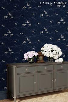Laura Ashley Blue Animalia Wallpaper