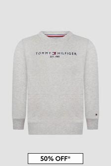 Tommy Hilfiger Boys Grey Sweat Top