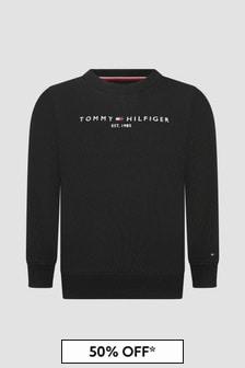 Tommy Hilfiger Boys Black Sweat Top