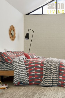 Scion Red Pedro Brushed Cotton Duvet Cover and Pillowcase Set