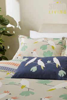 Scion Blue Lovebirds Cushion