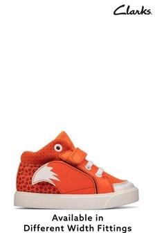 Clarks Orange Fox Tail Hi Top Boots