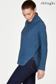 Thought Blue Rildey Organic Cotton Wool Funnel Neck Jumper
