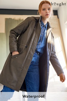 Thought Evvie Printed Check Organic Cotton Waterproof Coat