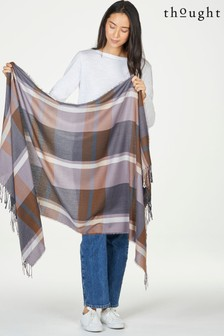 Thought Winnefred Check Recycled Polyester Gift Box Scarf
